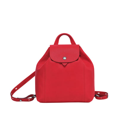 Le Pliage Cuir Backpack XS Red