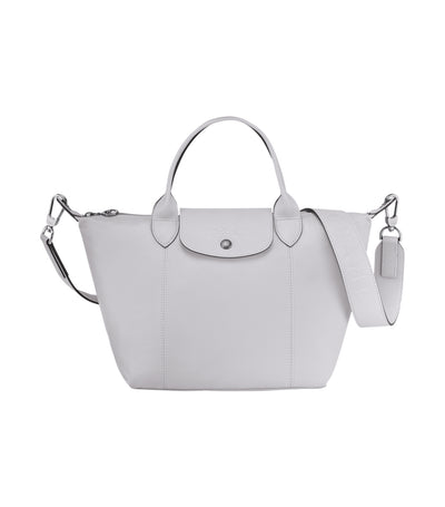 Le Pliage Cuir Top-Handle Bag S Gray