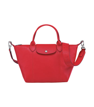 Le Pliage Cuir Top-Handle Bag S Red