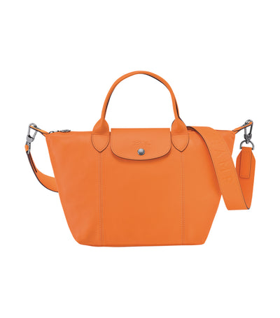 Le Pliage Cuir Top-Handle Bag S Orange