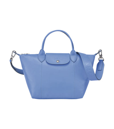 Le Pliage Cuir Top-Handle Bag S Blue