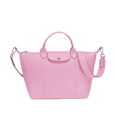 Le Pliage Cuir Top-Handle Bag M Pink