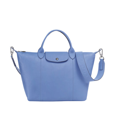 Le Pliage Cuir Top-Handle Bag M Blue