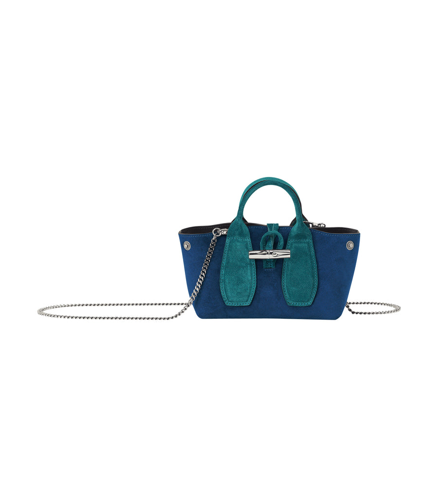 Roseau Velours Top-Handle Bag XS Midnight Blue