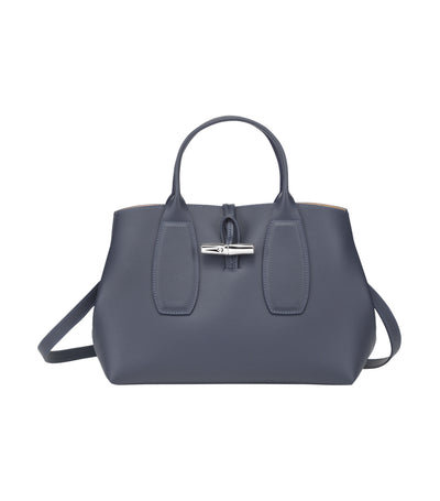 Roseau Top-Handle Bag M Pilot Blue