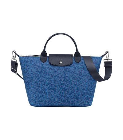 Le Pliage Panthère Top-Handle Bag M Blue