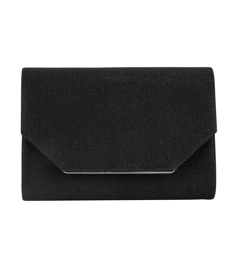 Alexis Sparkle Clutch Black