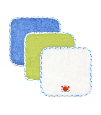 just born® love to bathe 4-pack crab washcloth