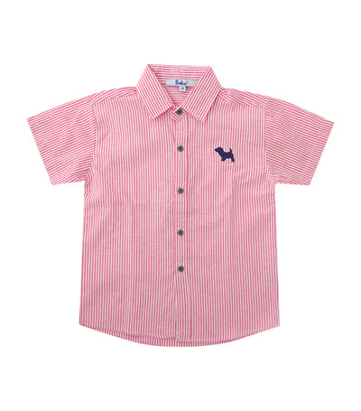 rustan jr. red rae short-sleeved polo