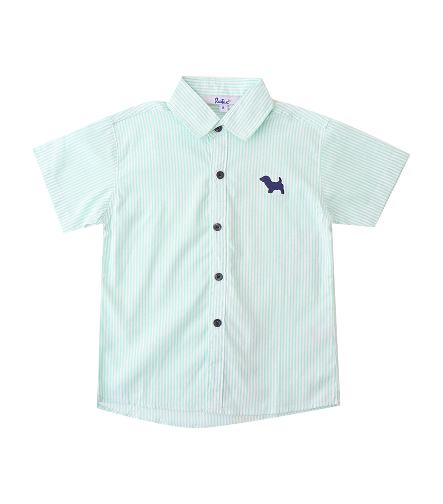 rustan jr. green rae short-sleeved polo