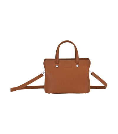 Le Foulonné Top-Handle Bag S Caramel