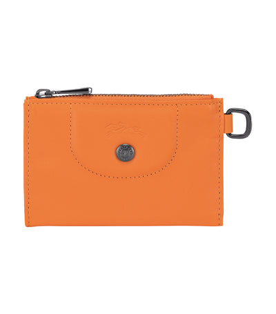 Le Pliage Cuir Key Case Orange