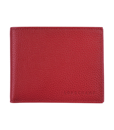 Le Foulonné Wallet with Coin Purse Red