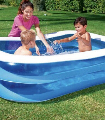 Blue Rectangle 120-Inch Family Pool