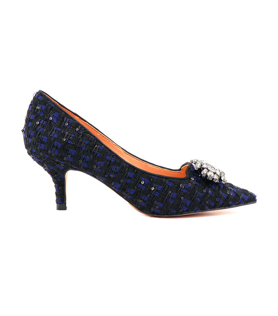 Pia Jewel Pumps Black Blue