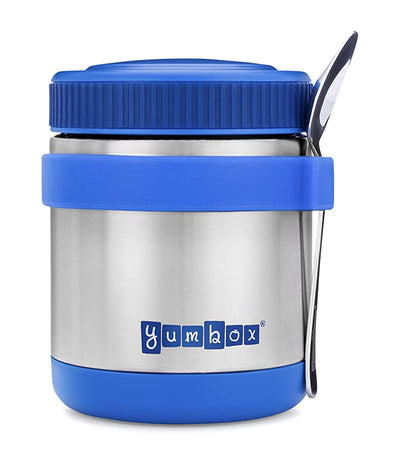 yumbox neptune blue zuppa food jar with spoon