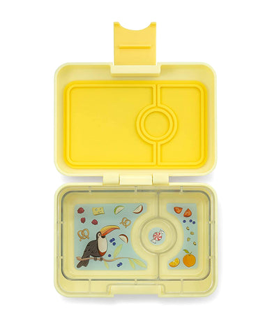 yumbox starburst yellow minisnack snack box