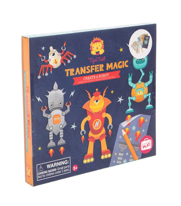 Tiger Tribe Transfer Magic Activity Set - Create a Robot