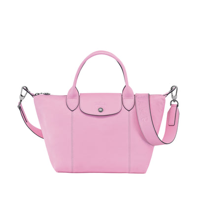 Le Pliage Cuir Top-Handle Bag S Pink