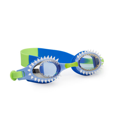 bling2o blue and green hammerhead fish-n-chips swim goggles