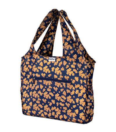 All Foldable Zippered Tote Marigold