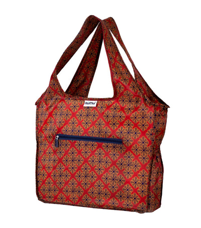 All Foldable Zippered Tote Spruce