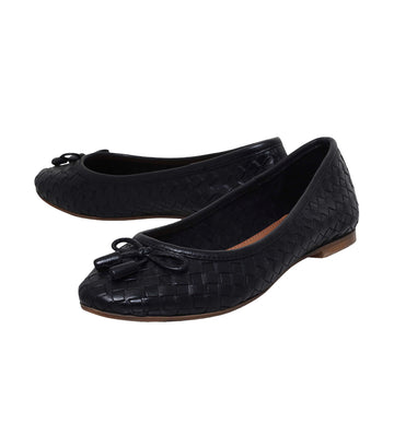 Luggage Ballet Flats Black