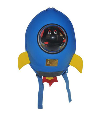 supercute blue rocket backpack
