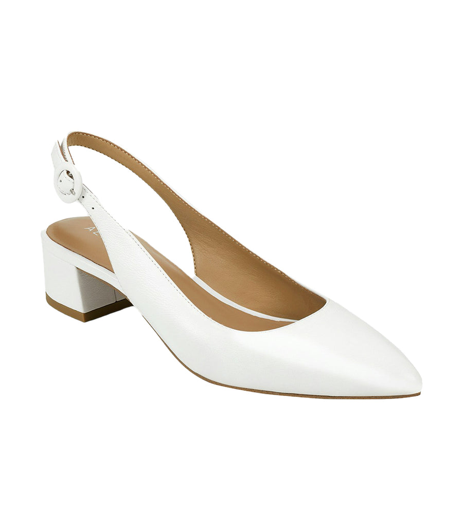 Grand Central Slingback Pumps White