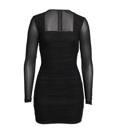 Tasha Mesh Mini Dress Black