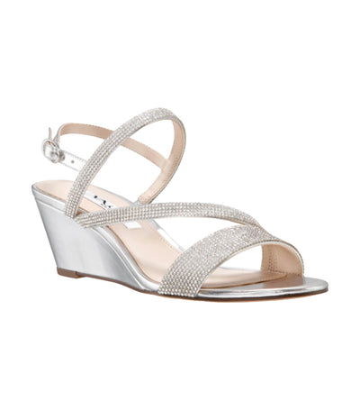 Naloni Wedge Silver Metallic Foil