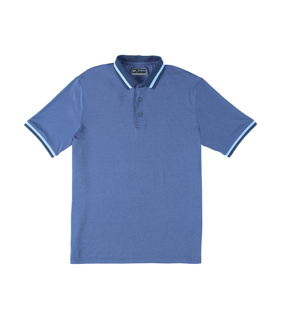 Solid Non-Solid with Tipped Collar Polo Shirt Classic Navy