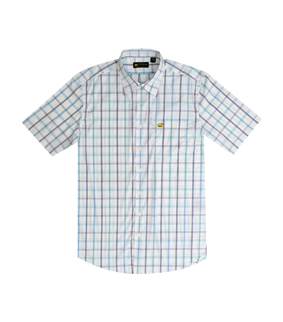 4 Colors Large Plaid Woven Shirt Bright White