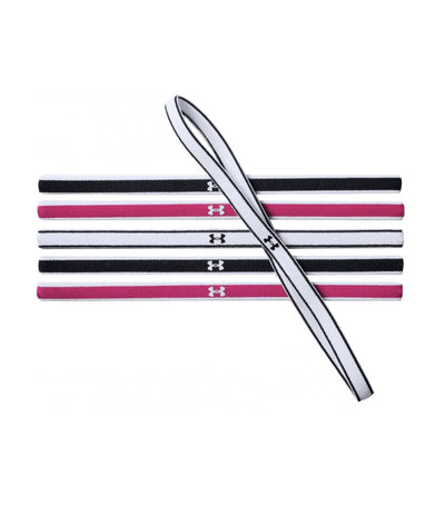 UA Mini Headbands - 6 Pack Black / Pink / White