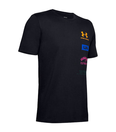 UA Originators Of Performance Back Short Sleeve T-Shirt Black