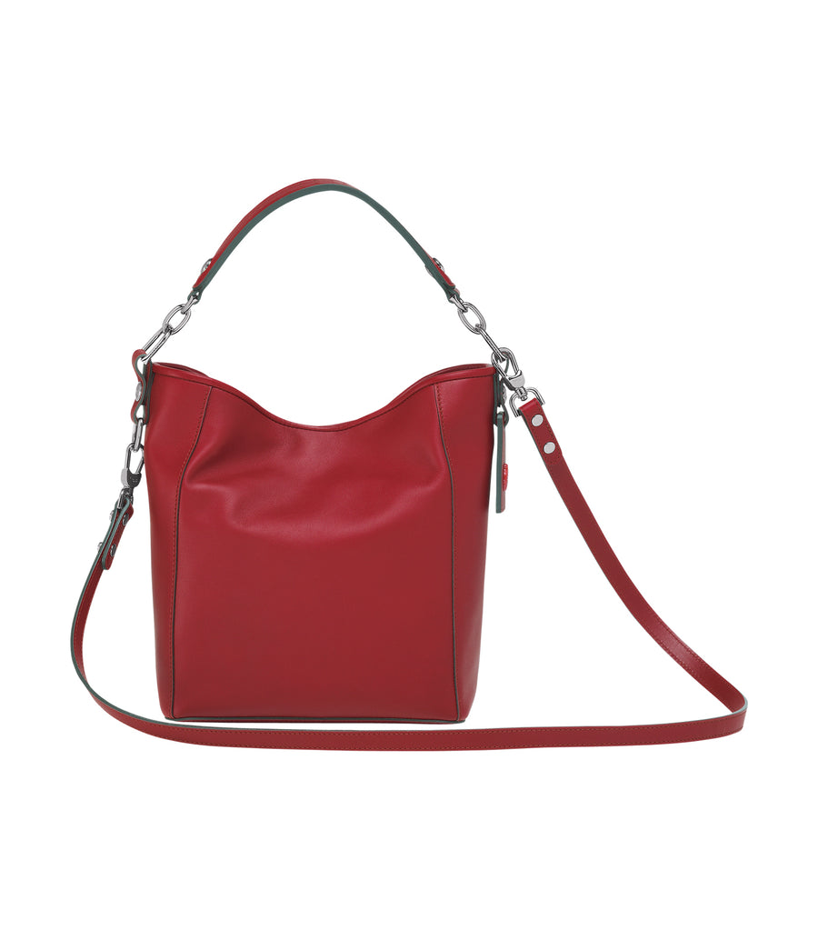 Mademoiselle Longchamp Bucket Bag S Garnet Red