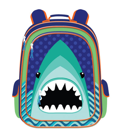 cool kids boys backpack - shark