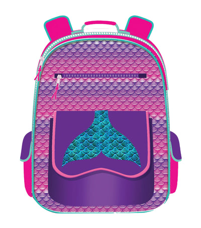 cool kids girls backpack - mermaid tail