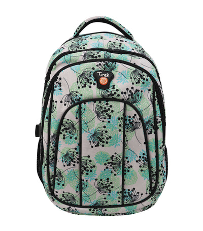 trek floral backpack - green