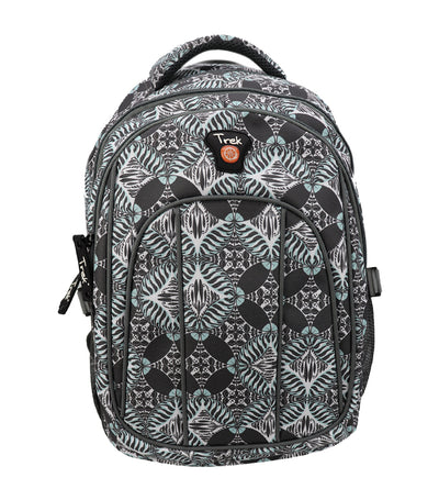 trek damask pattern backpack - light green