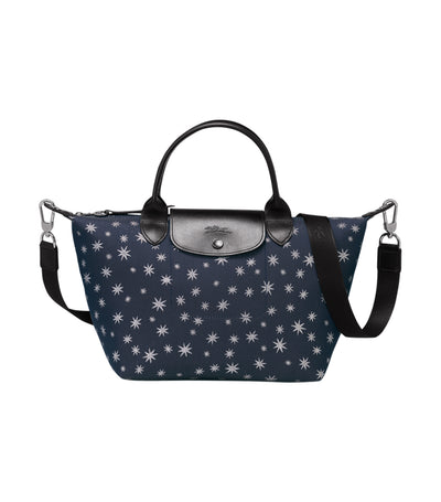 Le Pliage Etoiles Top-Handle Bag S Pilot Blue