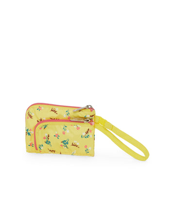 Yucca Yellow Bouquet Curved Coin Pouch