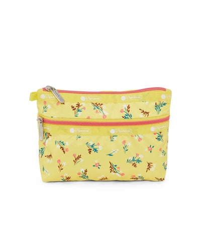 Yucca Yellow Bouquet Cosmetic Clutch