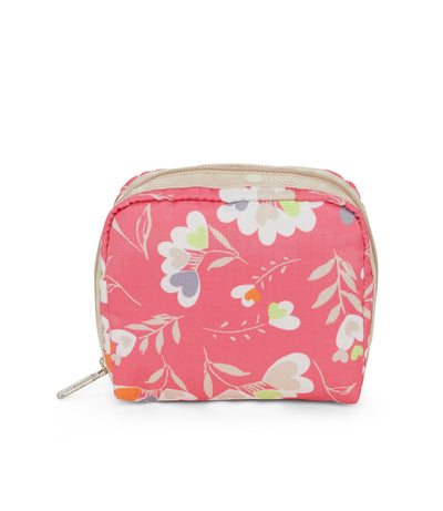 Lovely Hearts Square Cosmetic Bag