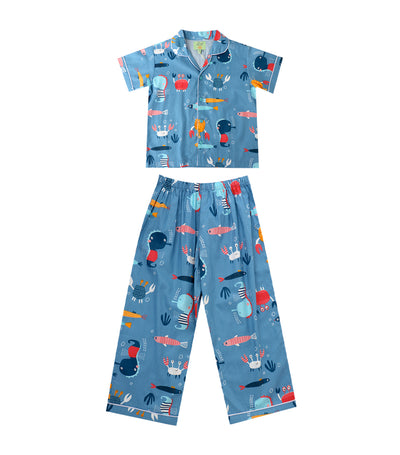 tumble bumble blue ocean pajama set