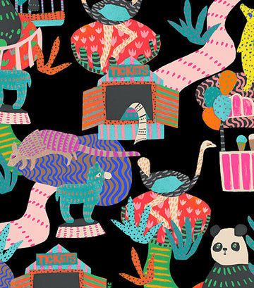 3-Zip Cosmetic Case Midnight Menagerie