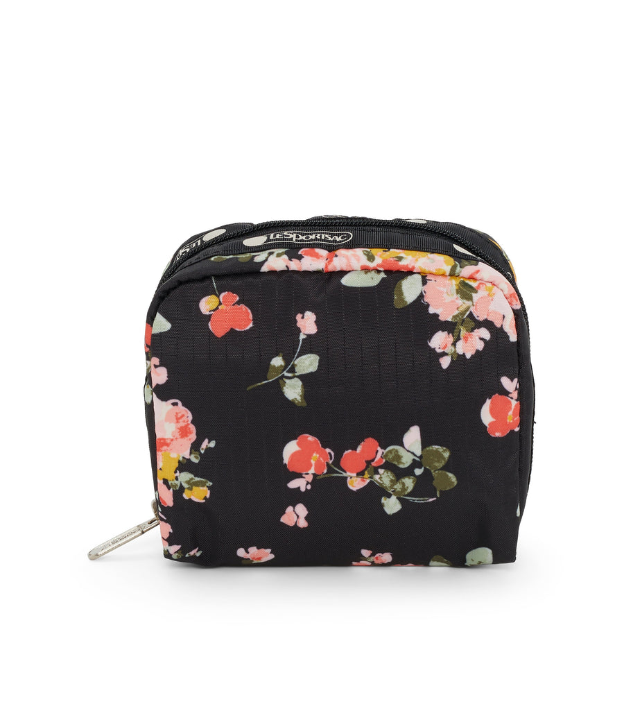 Garden Rose Square Cosmetic Bag