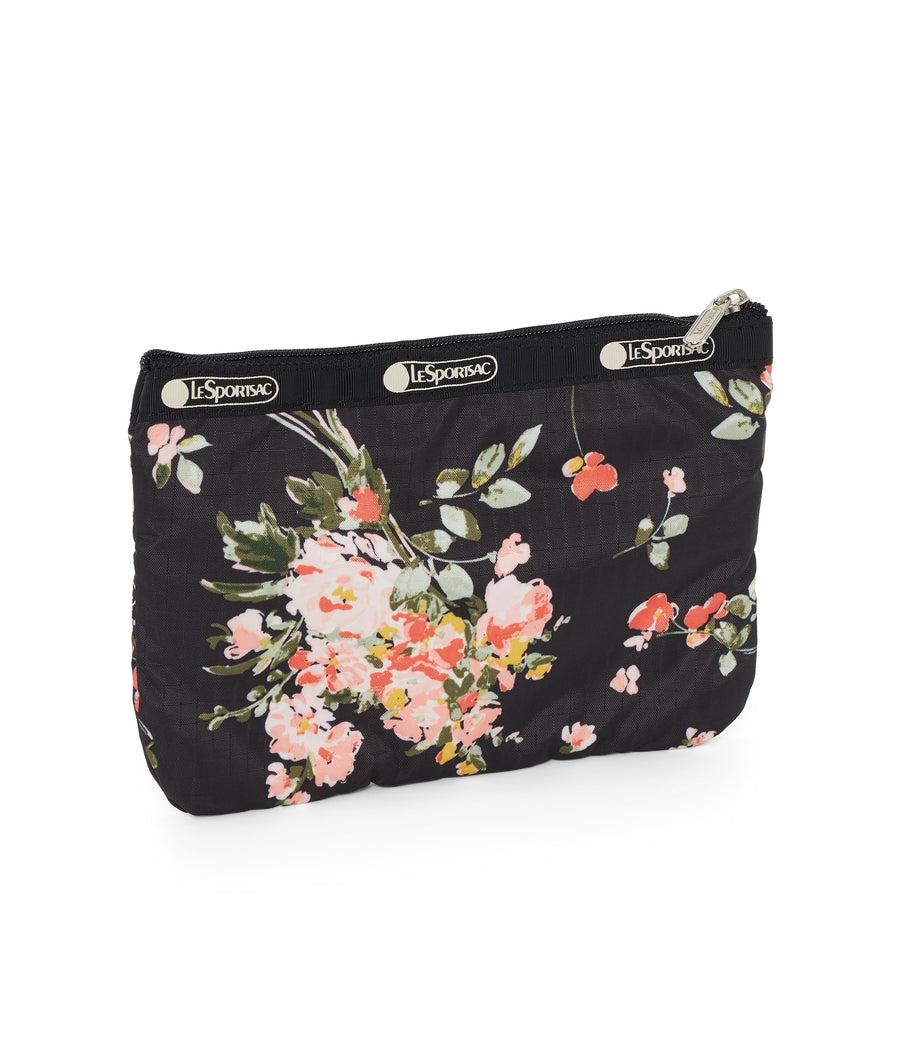 Garden Rose 3-Zip Cosmetic Bag