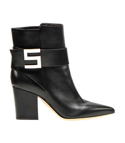 Sergio Logomaniac Booties Black