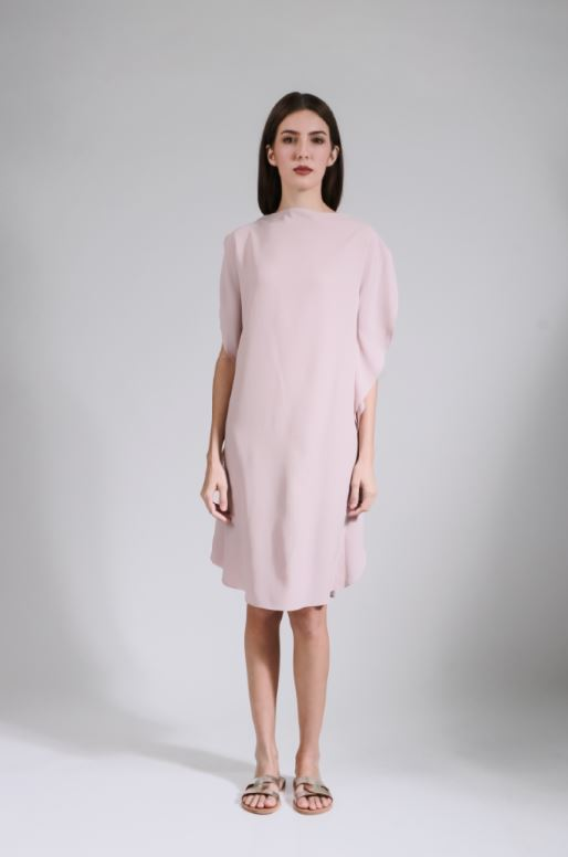 lady rustan bayla boat neckline dress - pink